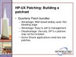 hp ux patching building a patchset56