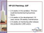 hp ux patching juf26