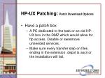 hp ux patching patch download options52