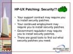 hp ux patching security