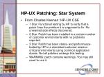 hp ux patching star system