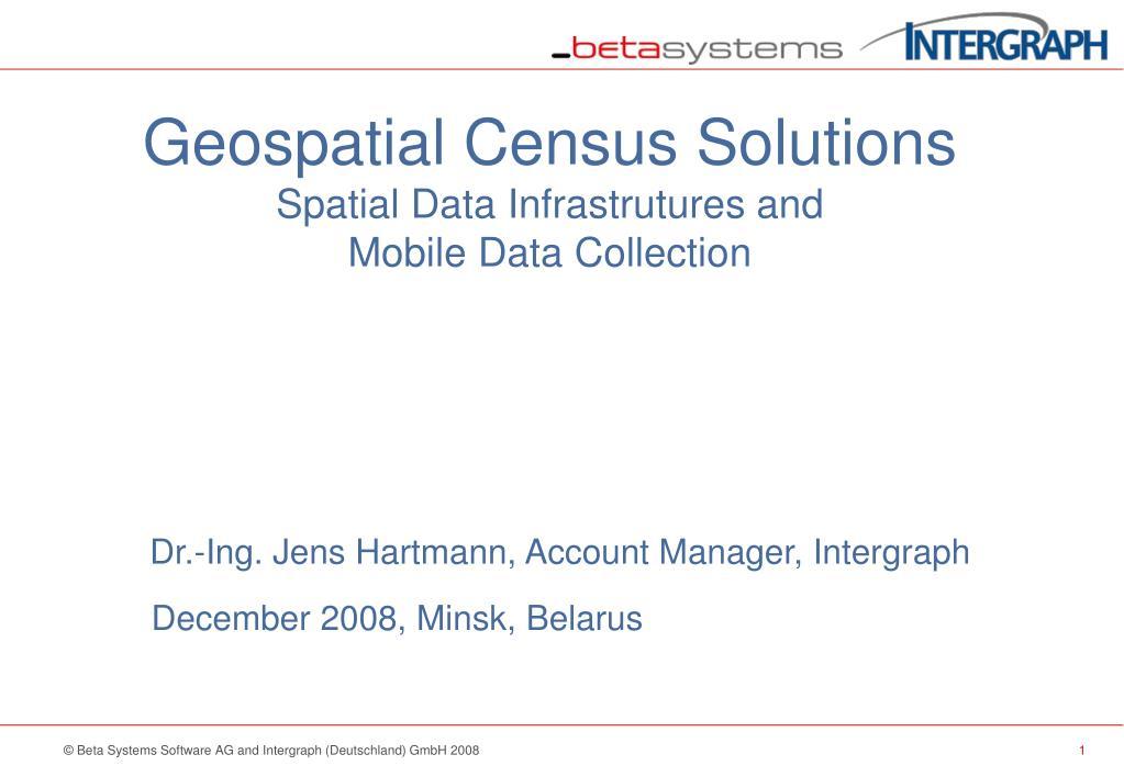 Geospatial Census Solutions