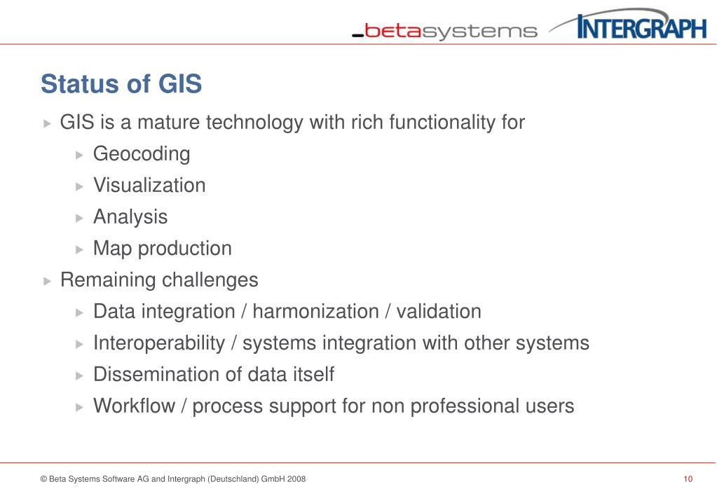 Status of GIS