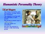 humanistic personality theory