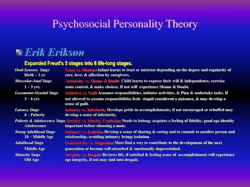 Psychosocial Personality Theory