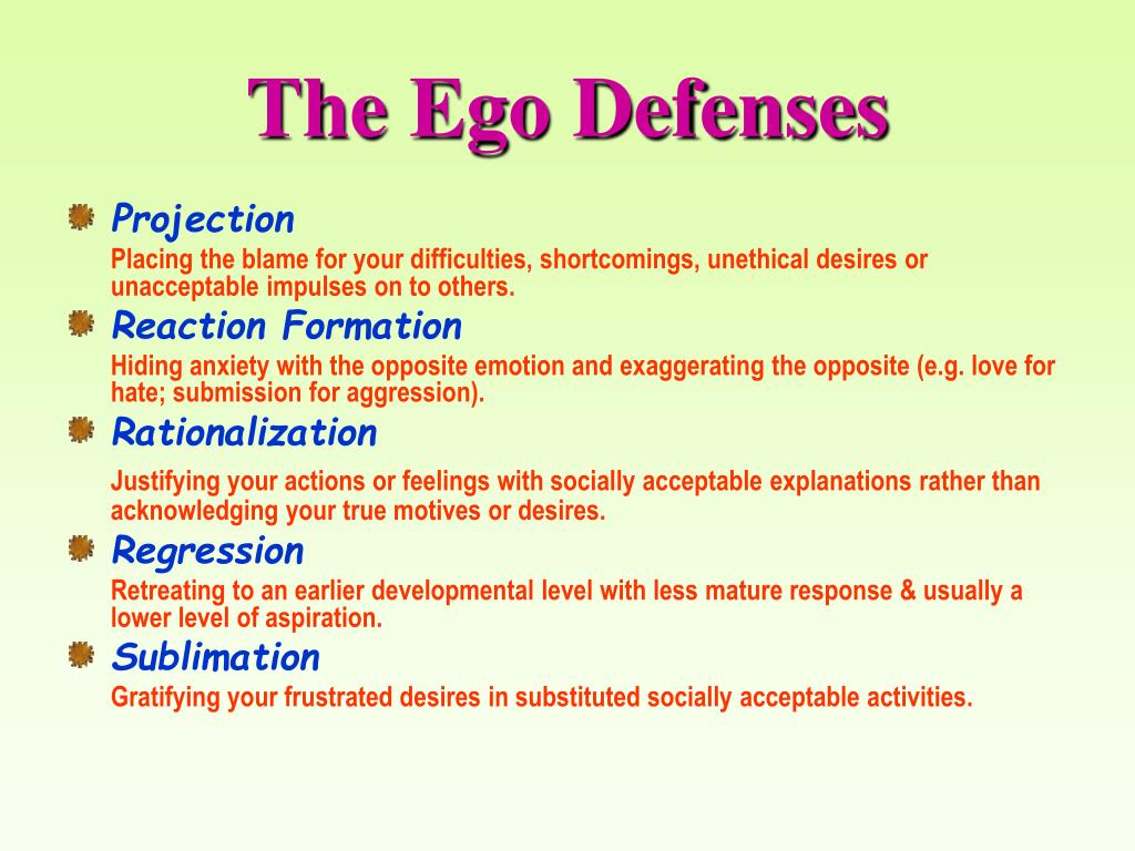 The Ego Defenses