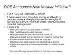 doe announces new nuclear initiative