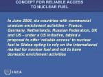 concept for reliable access to nuclear fuel