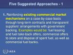 five suggested approaches 1