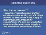 indicative questions27