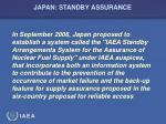 japan standby assurance