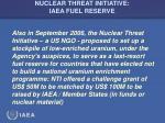 nuclear threat initiative iaea fuel reserve