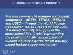 uranium enrichment industry