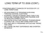 long term up to 2030 cont