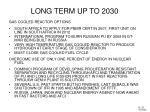 long term up to 2030