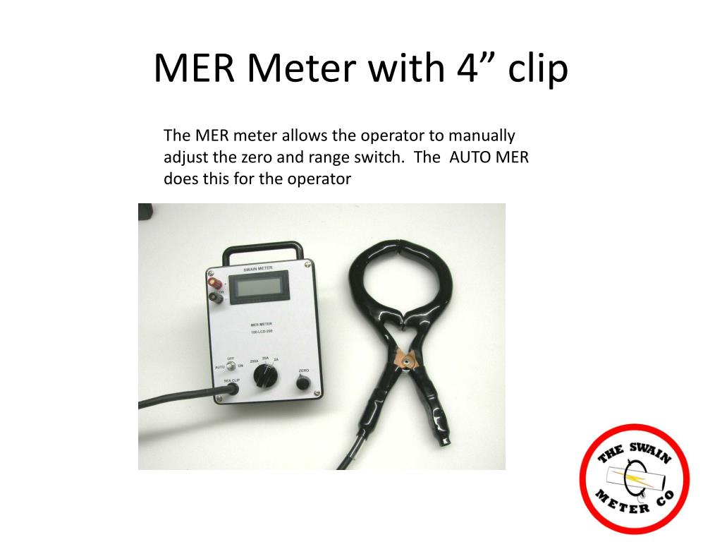 """MER Meter with 4"""" clip"""