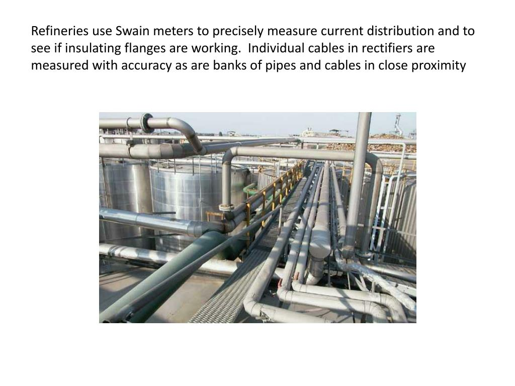Refineries use Swain meters to precisely measure current distribution and to see if insulating flanges are working.  Individual cables in rectifiers are measured with accuracy as are banks of pipes and cables in close proximity