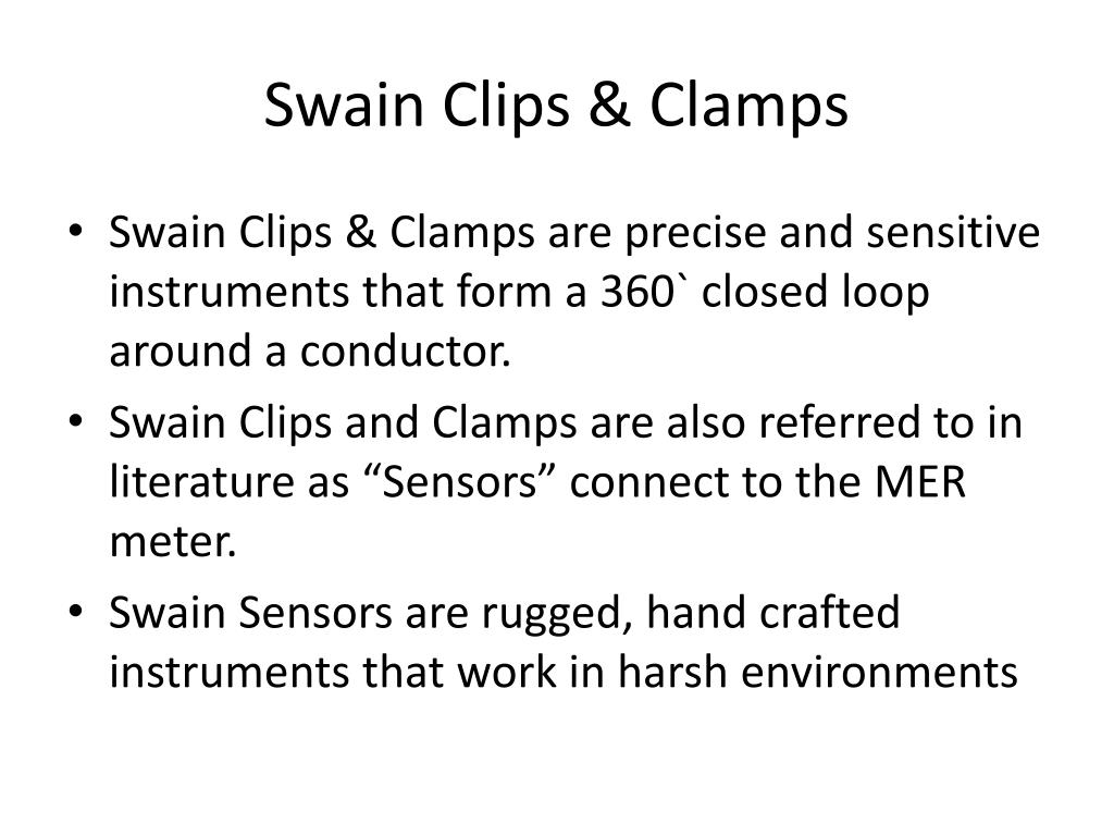 Swain Clips & Clamps