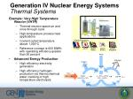 generation iv nuclear energy systems thermal systems