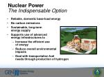 nuclear power the indispensable option
