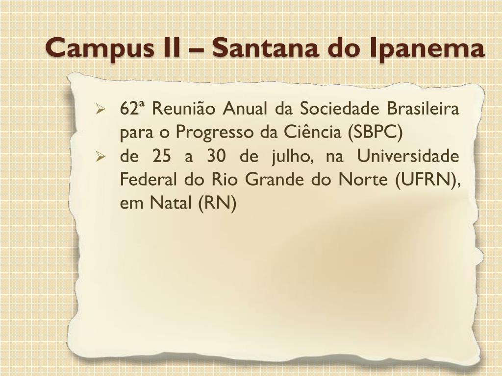62ª Reunião Anual da Sociedade Brasileira para o Progresso da Ciência (SBPC