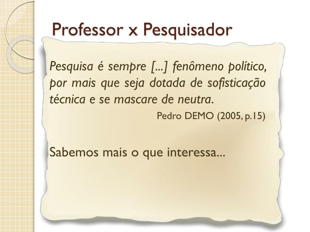 Professor x Pesquisador