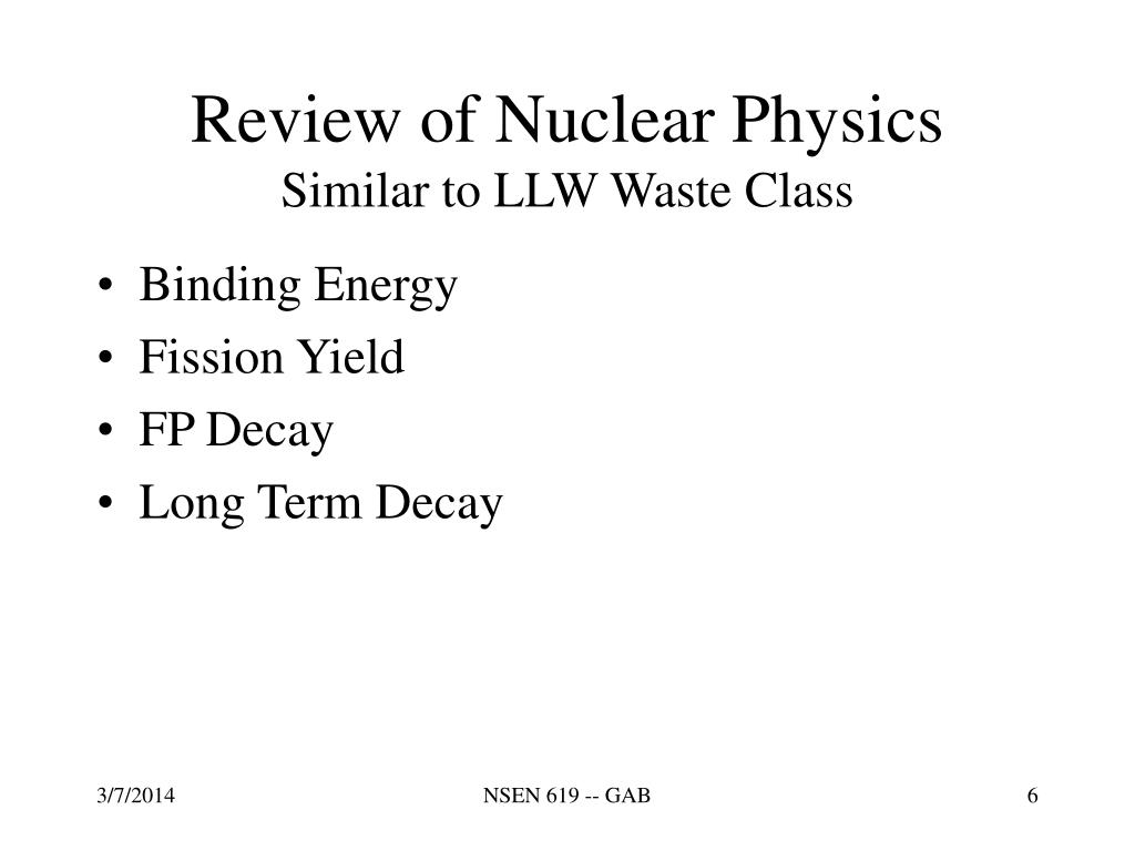 Review of Nuclear Physics