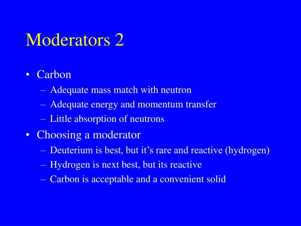 Moderators 2