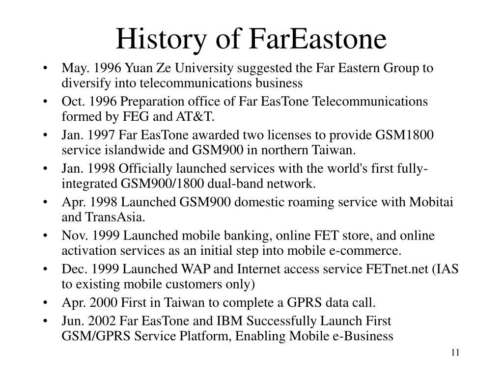 History of FarEastone