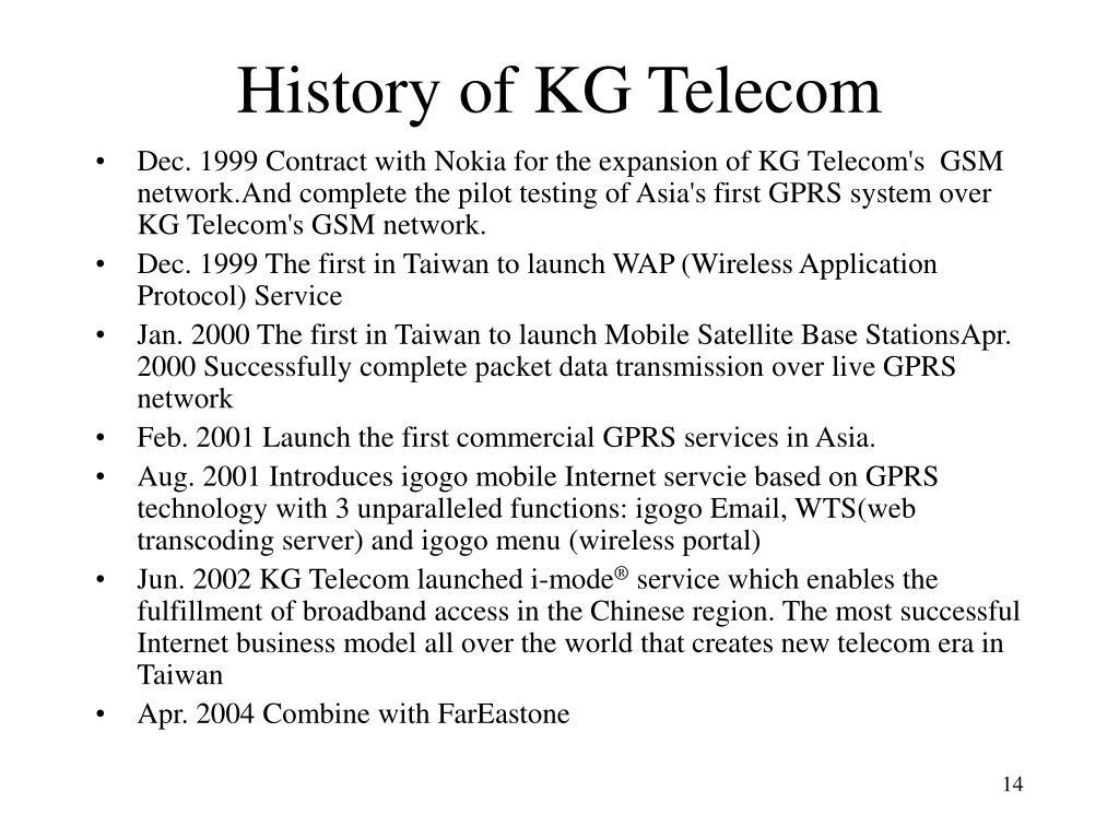 History of KG Telecom