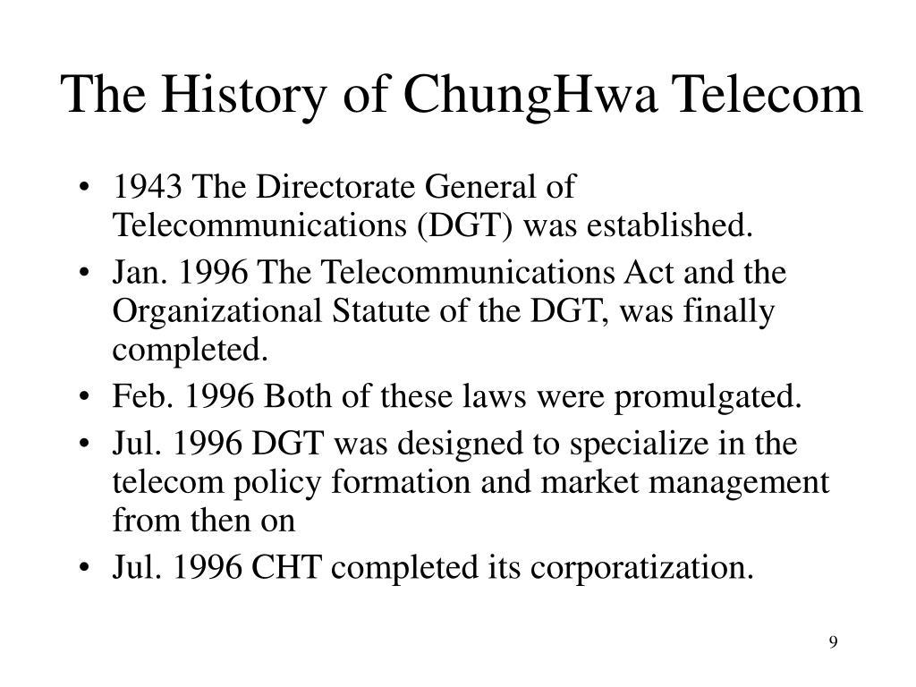 The History of ChungHwa Telecom