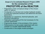 scope of a co ordinated research project crp for the constuction of the prototype of the reactor