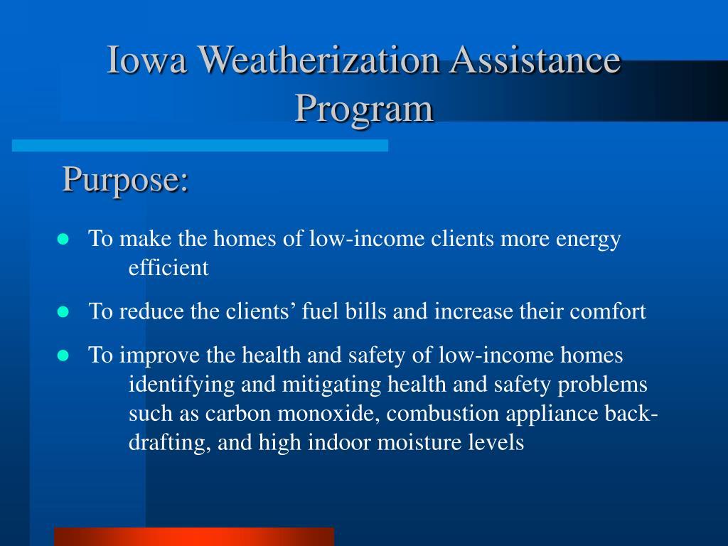Iowa Weatherization Assistance Program