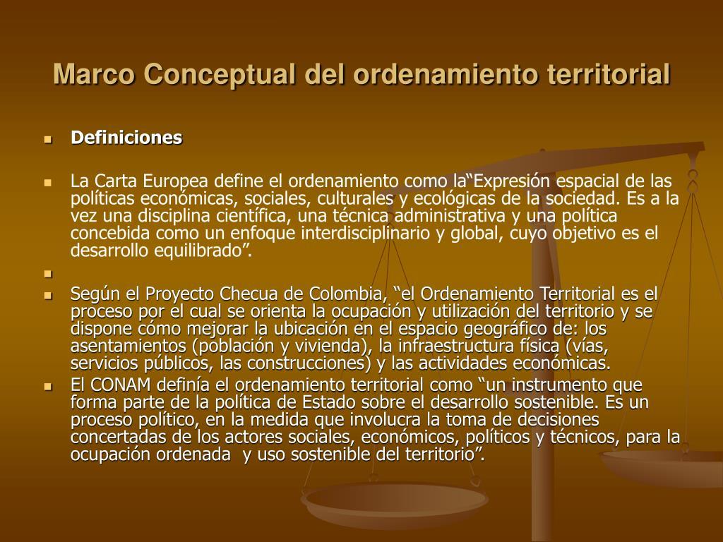 Marco Conceptual del ordenamiento territorial