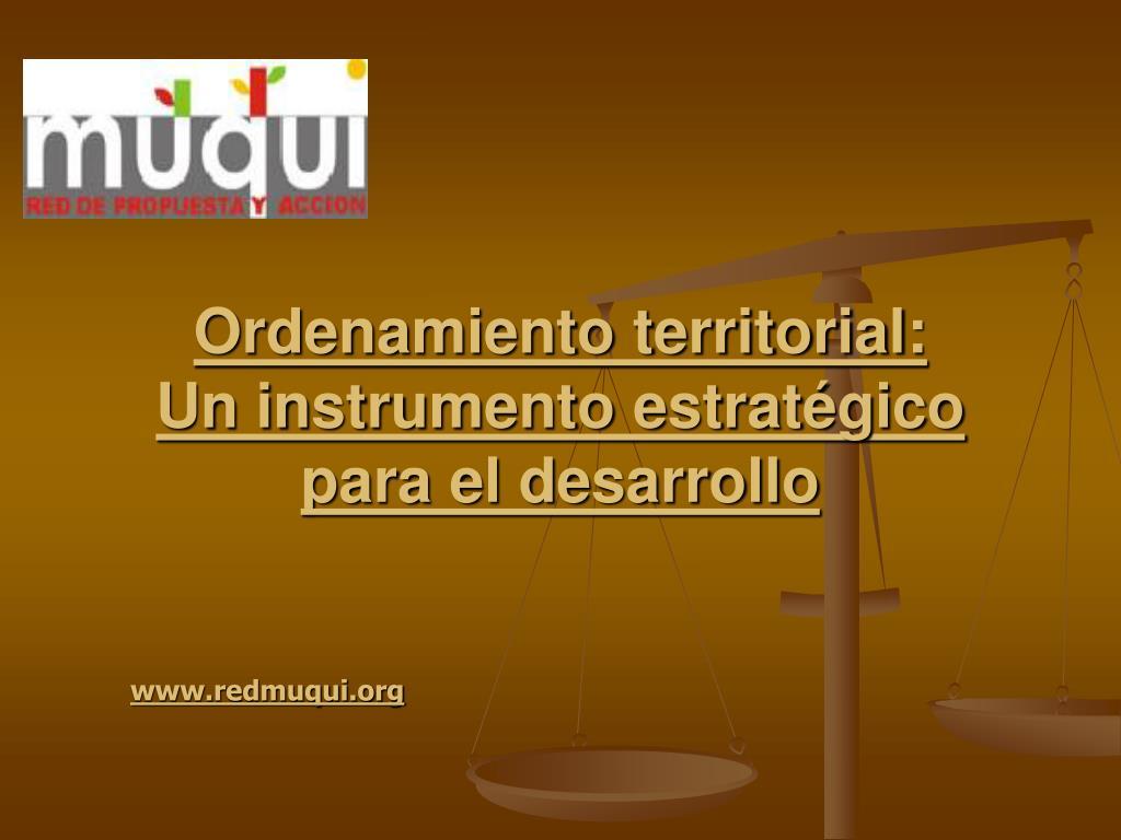 Ordenamiento territorial: