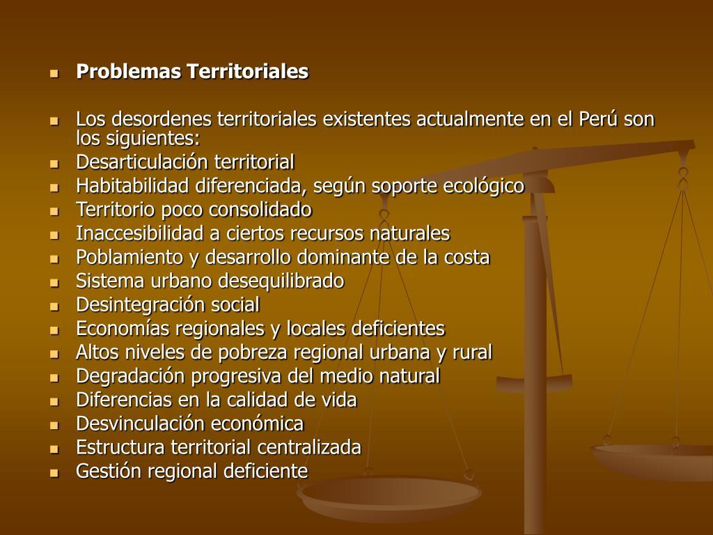 Problemas Territoriales