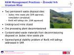 raw management practices irovski vrh uranium mine