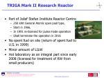 triga mark ii research reactor
