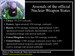 arsenals of the official nuclear weapon states