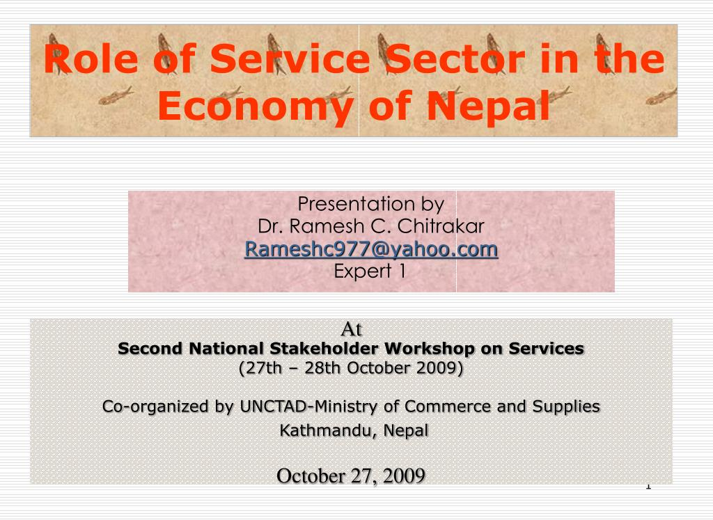 role of service sector in the economy of nepal l.