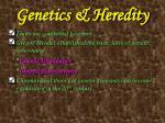 genetics heredity