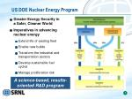 us doe nuclear energy program