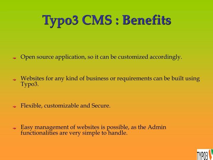 Typo3 cms benefits