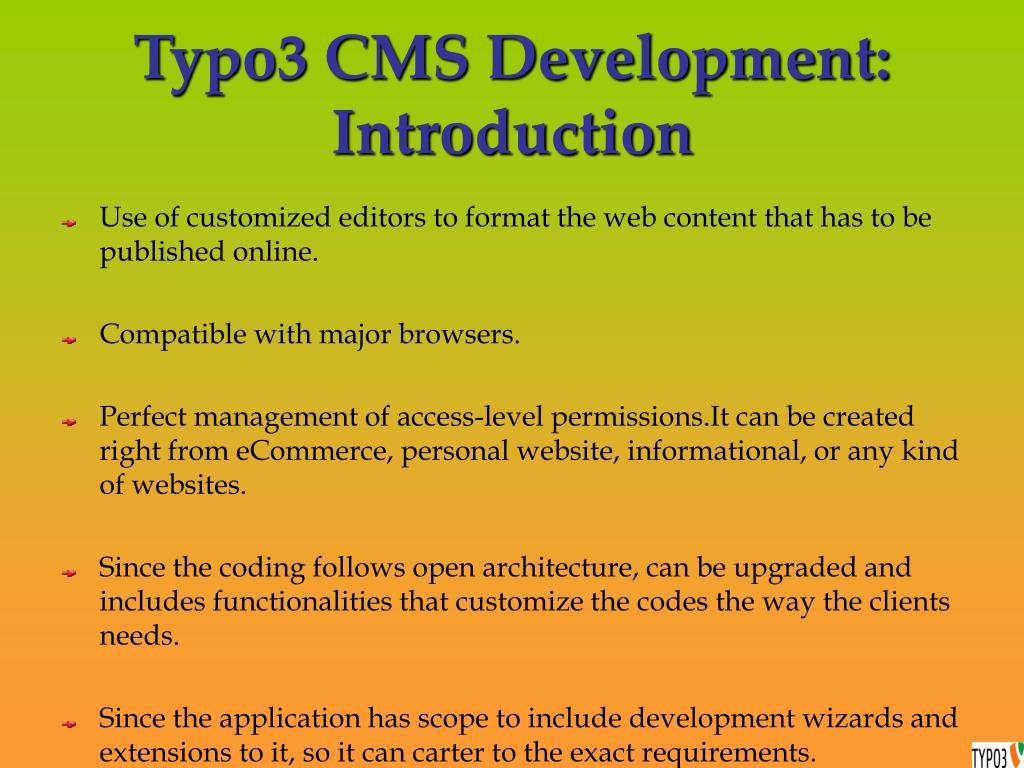 Typo3 CMS Development: Introduction