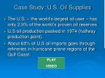 case study u s oil supplies