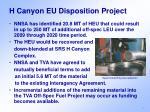 h canyon eu disposition project