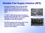 reliable fuel supply initiative rfs