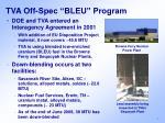 tva off spec bleu program