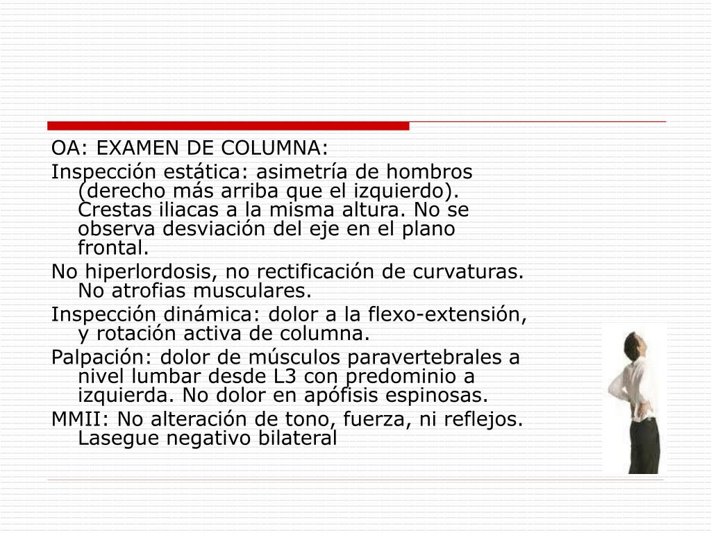 OA: EXAMEN DE COLUMNA: