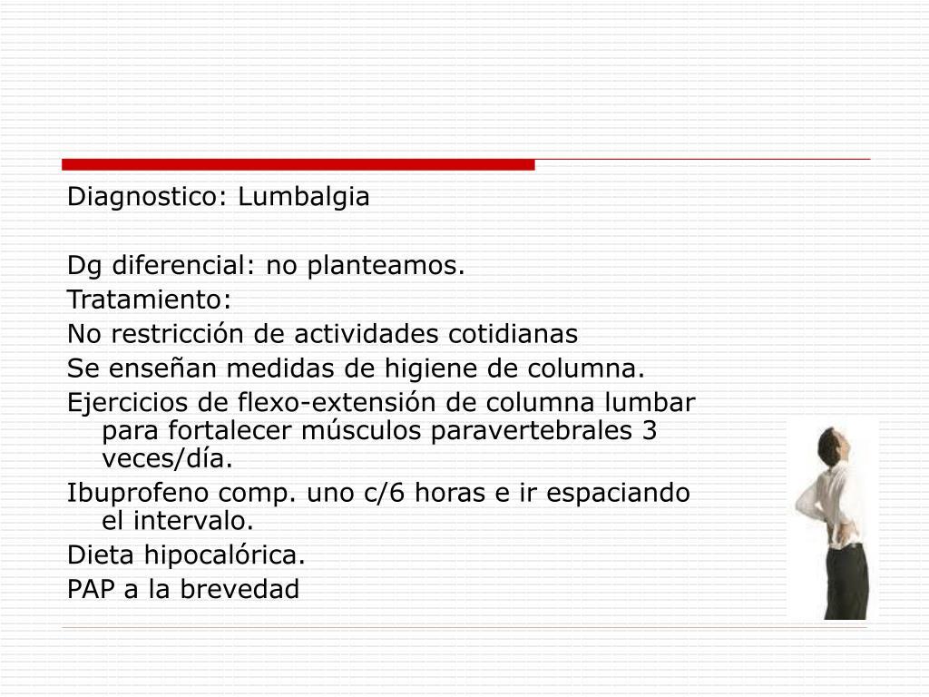 Diagnostico: Lumbalgia